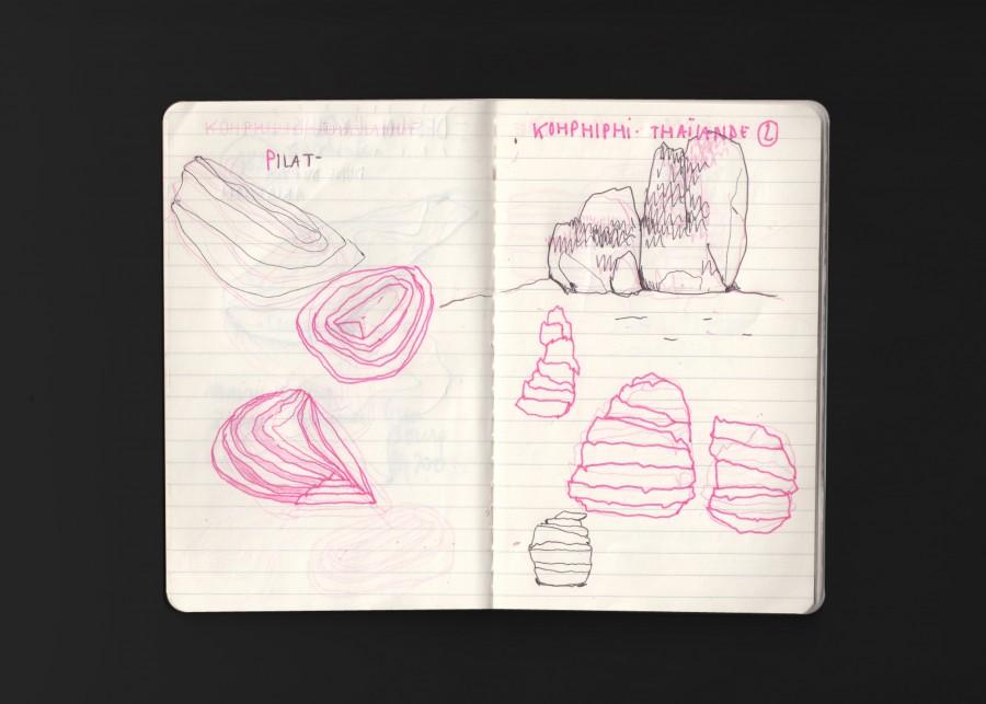 Sketches - Memorabilia Factory - kit de création de souvenirs in Situ en sable calcifié grâce à des bactéries - client : Design Exquis - www.bold-design.fr