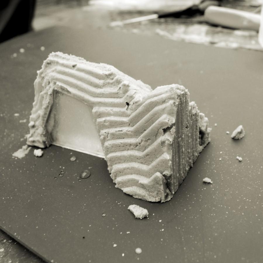 Making of Memorabilia Factory - kit de création de souvenirs in Situ en sable calcifié grâce à des bactéries - client : Design Exquis - www.bold-design.fr