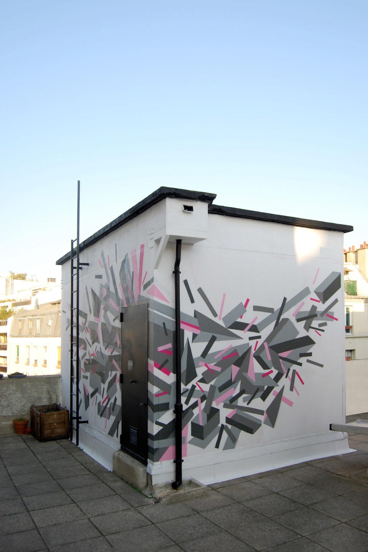 www.bold-design.fr - atelier sur les toits - vue exterieure / fresque - photo bold-design