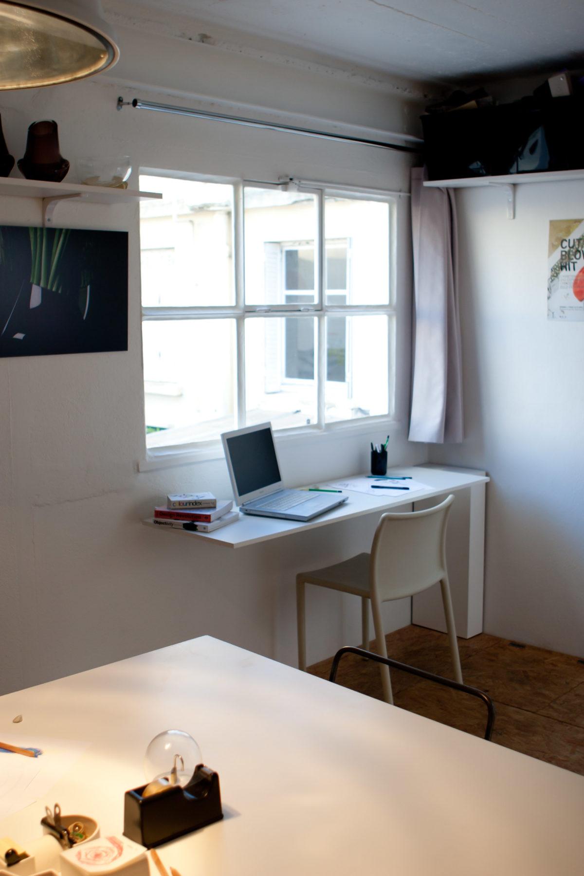 atelier sur les toits - bureau transformable - photo Marie Guerre