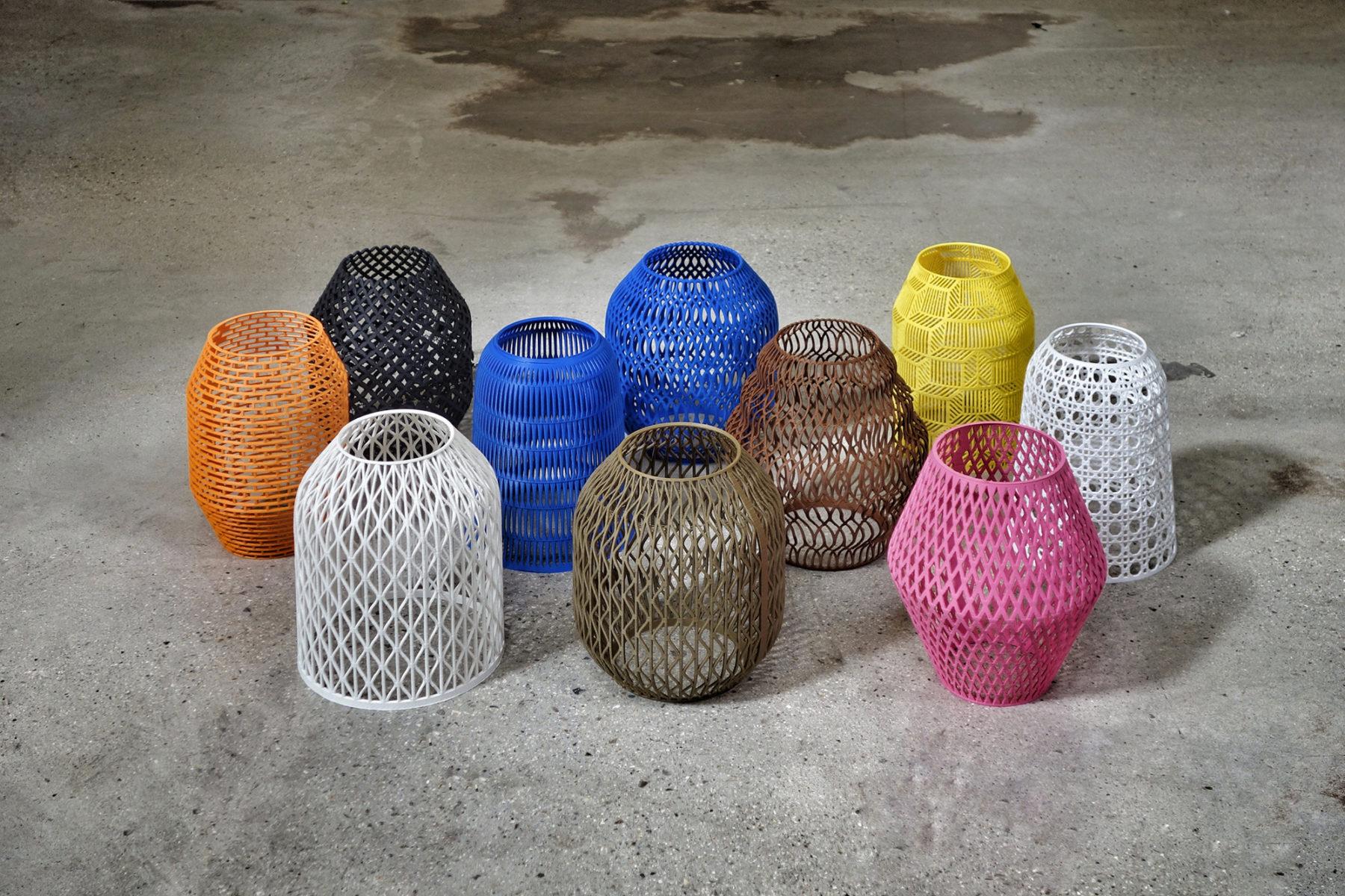 enceinte OWA - recherches formes et motifs imprimés en 3D
