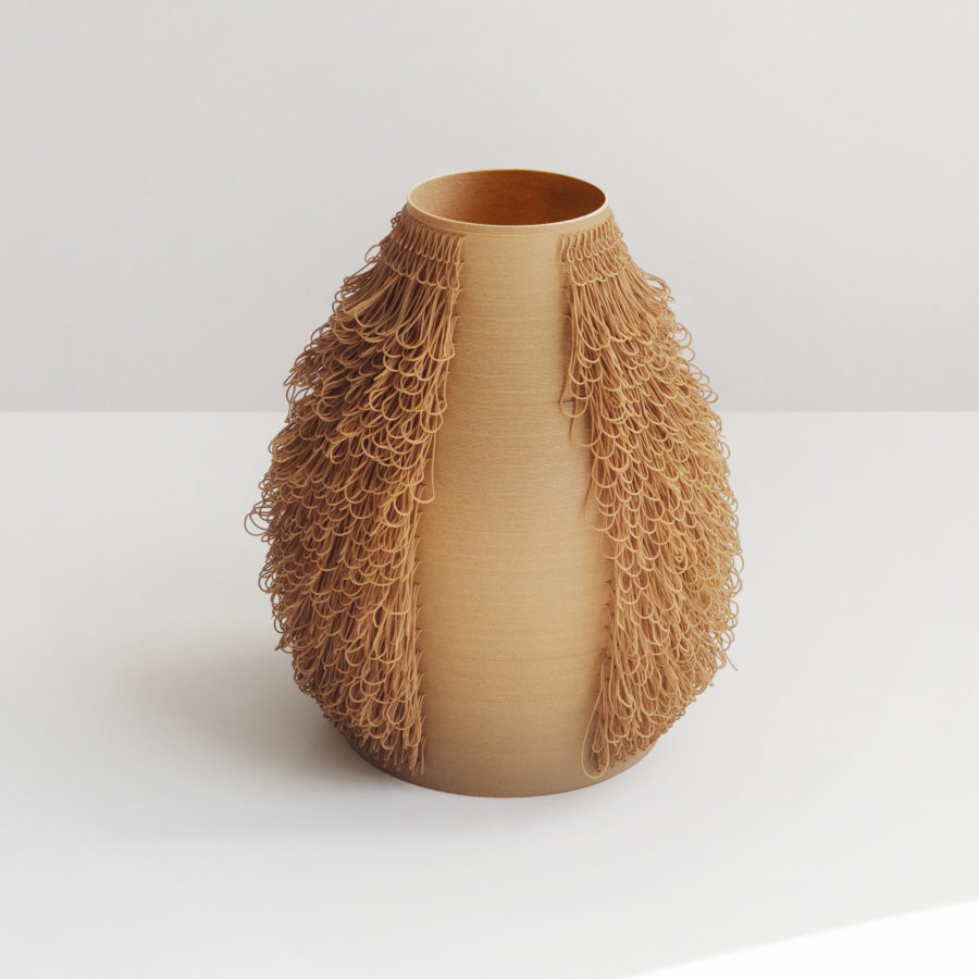 ROUX vase - POILU Collection - 3d printed vases by bold-design for AYBAR Gallery - www.bold-design.fr
