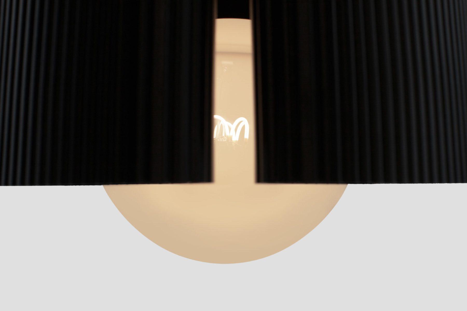 RIBBON lampshade par bold-design pour Batch.works et Plumen avec Reflow filaments